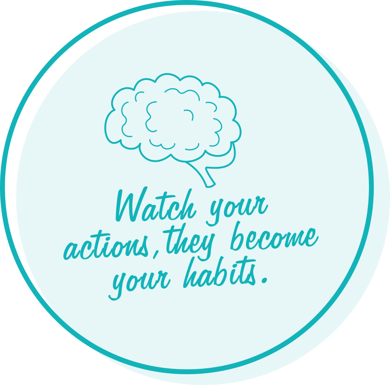 Watch your actions, they become your habits