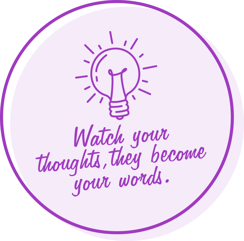 watch your thoughts, they become your words