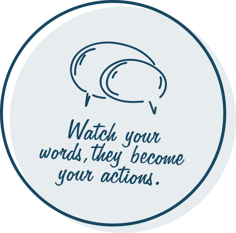 Watch your words, they become your actions